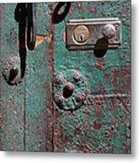 New Lock On Old Door 3 Metal Print