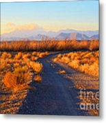 New Mexico Back Country Road Metal Print