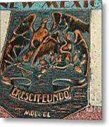 New Mexico Crescit Eundo Metal Print