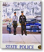 New Mexico State Police Poster Metal Print