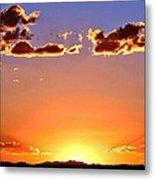 New Mexico Sunset Glow Metal Print