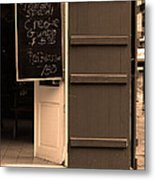 New Orleans - Bourbon Street Menu 3 Metal Print