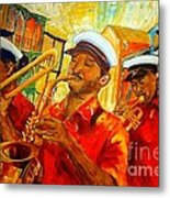 New Orleans Brass Band Metal Print