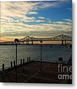 New Orleans Bridge Metal Print