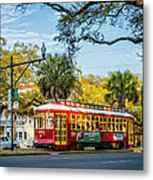 New Orleans - Canal St Streetcar 2 Metal Print