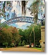 New Orleans City Park - Pizzati Gate Entrance Metal Print
