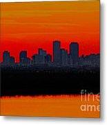 New Orleans City Sunset Metal Print