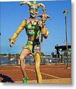 New Orleans Clown French Quarters Metal Print