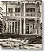 New Orleans Home - Paint Sepia Metal Print