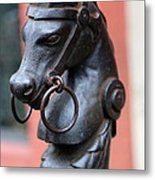 New Orleans Horse Tether Metal Print