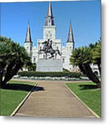 New Orleans - Jackson's Square Metal Print