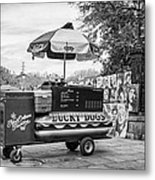 New Orleans - Lucky Dogs Bw Metal Print by Steve Harrington