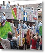 New Orleans - Mardi Gras Parades - 1212101 Metal Print by DC Photographer