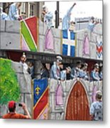 New Orleans - Mardi Gras Parades - 1212102 Metal Print