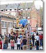 New Orleans - Mardi Gras Parades - 1212114 Metal Print