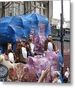New Orleans - Mardi Gras Parades - 1212118 Metal Print