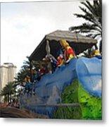 New Orleans - Mardi Gras Parades - 121238 Metal Print