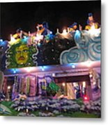 New Orleans - Mardi Gras Parades - 121246 Metal Print by DC Photographer