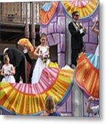 New Orleans - Mardi Gras Parades - 121267 Metal Print