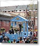 New Orleans - Mardi Gras Parades - 121270 Metal Print