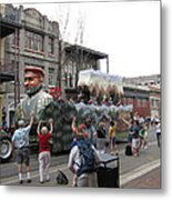 New Orleans - Mardi Gras Parades - 121286 Metal Print