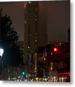 New Orleans Market District At Night Metal Print