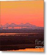 New Orleans Mississippi Bridge Metal Print