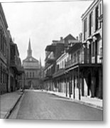 New Orleans Old French Quarter Metal Print