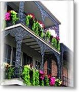New Orleans Porches Metal Print