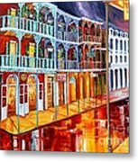 New Orleans Reflections In Red Metal Print