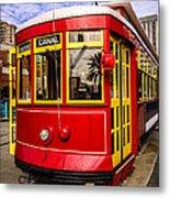 New Orleans Streetcar  Metal Print by Paul Velgos