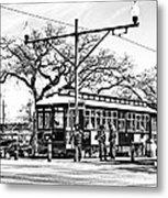 New Orleans Streetcar Silhouette Metal Print