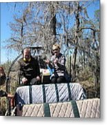New Orleans - Swamp Boat Ride - 1212103 Metal Print
