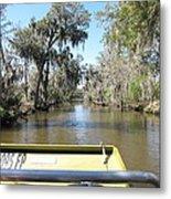 New Orleans - Swamp Boat Ride - 1212122 Metal Print