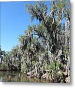 New Orleans - Swamp Boat Ride - 1212135 Metal Print