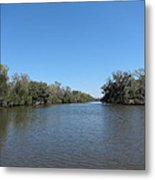 New Orleans - Swamp Boat Ride - 1212154 Metal Print