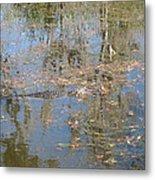 New Orleans - Swamp Boat Ride - 121262 Metal Print