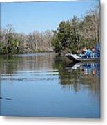 New Orleans - Swamp Boat Ride - 121289 Metal Print
