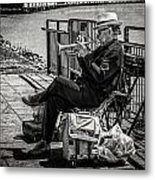 New Orleans Waterfront Jazz Metal Print