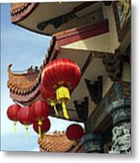 New Photographic Art Print For Sale Downtown Chinatown Metal Print