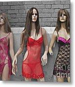 Sex Sells Mannequins In Lingerie In Downtown Los Angeles  Metal Print