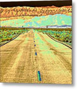 New Photographic Art Print For Sale Long Road To The Valley Of Fire Metal Print