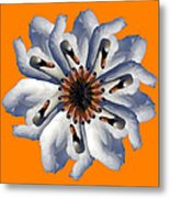 New Photographic Art Print For Sale Pop Art Swan Flower On Orange Metal Print