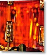 Transparent Orange Drum Backstage At The American Music Award Metal Print