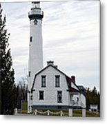 New Presque Isle Lighthouse Metal Print