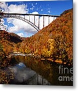 New River Gorge Bridge In Autumn Metal Print
