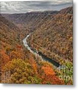 New River Gorge Overlook Fall Foliage Metal Print