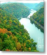 New River Gorge Viewed From Hawks Nest State Park Metal Print