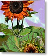 New Sunflowers Metal Print by Annette Allman