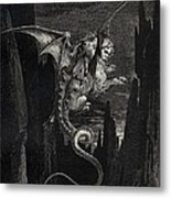 New Terror I Conceived From Dantes Inferno Metal Print